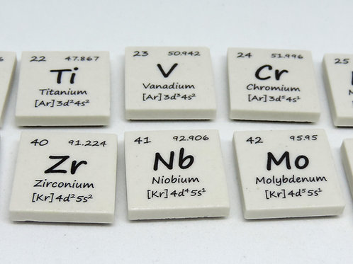 The Periodic Table Magnet Tiles