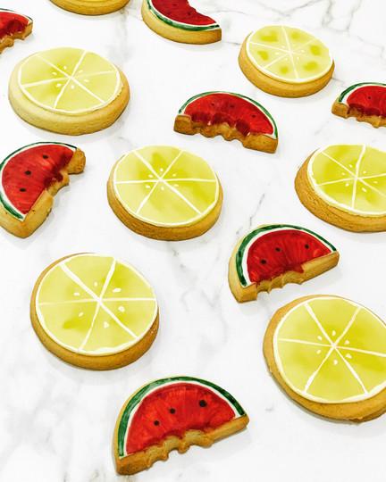 Sablés citron/pastèque