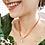 Thumbnail: Gargantilha Seda de Buriti & Folha Esqueletizada (folheado prata)