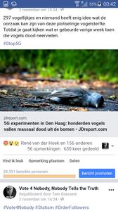 5G Tests result in bird death in Holland.