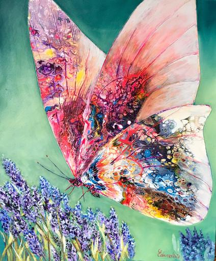 Papillon aux lavandes