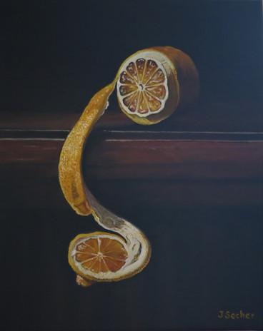 Citron sur meuble