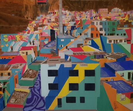 Patchwork en béton (La Paz Bolivie)