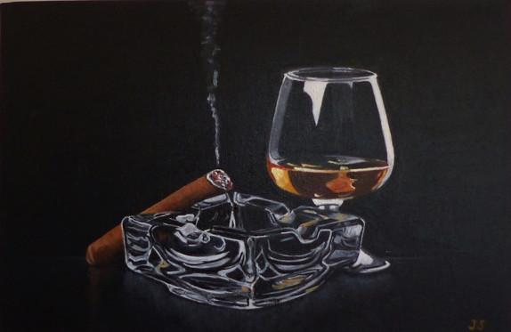Cigare et cognac