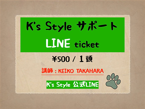K'sstyle LINEサポートチケット【 KEIKO 】