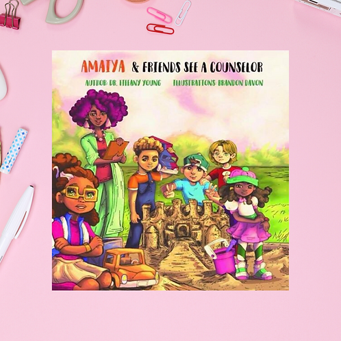 Amaiya & Friends See A Counselor Book & Coloring Book Companion