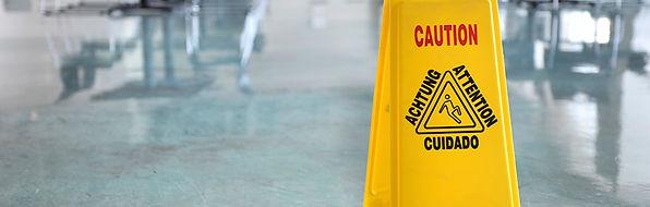 Gebäudedienst Warnschild