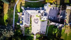 Burg Namedy von oben mit Herz