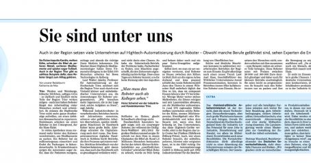 """Prof. Dr. h.c. Axel Haas zum Thema """"Robotik"""" im Trierischen Volksfreund"""