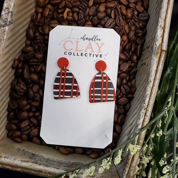 Red and White Plaid Everly Earrings