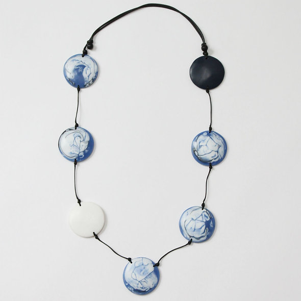 Blue Marble Tori Necklace