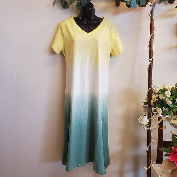 Tie-Dye Ombre Maxi Dress