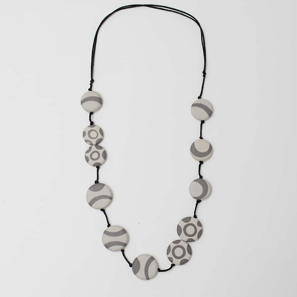 Adeline Resin Grey Necklace