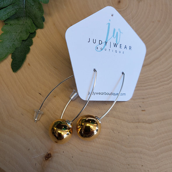 Gevole Gold Ceramic V-Wire Earrings