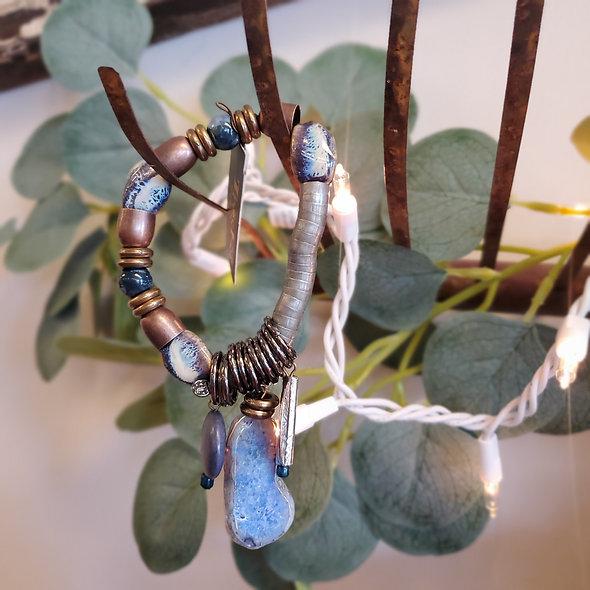 Treska Collections Blue Stone Stretch Bracelet