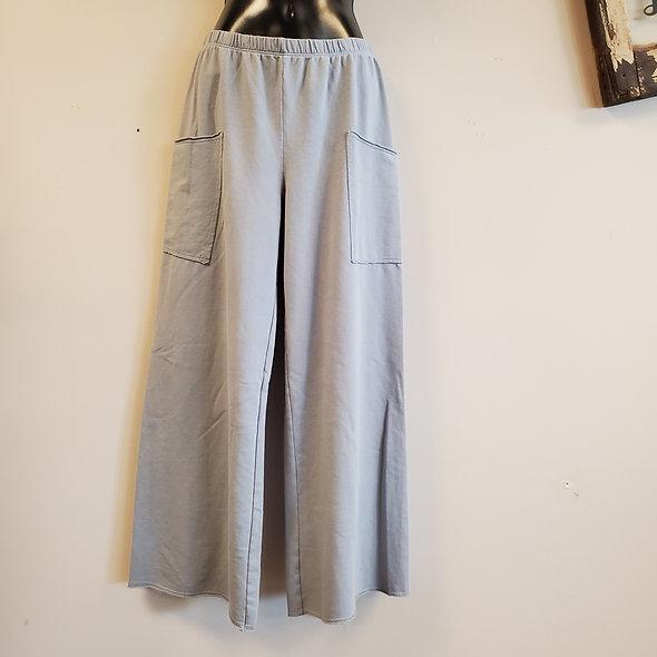 Prairie Cotton Light Grey Wide Leg Pants