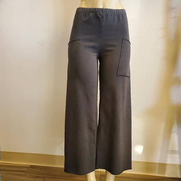 Prairie Cotton Wide Leg Grey Pants