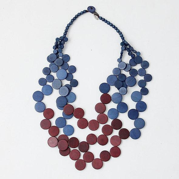 Purple and Blue Lauren Necklace