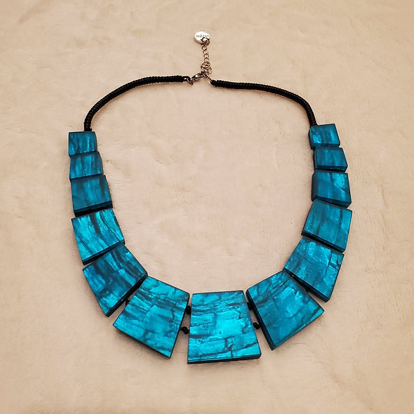 "Matte Turquoise ""Aztec"" Necklace from Origin"