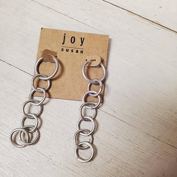 Joy Susan Chain Linked Hoops