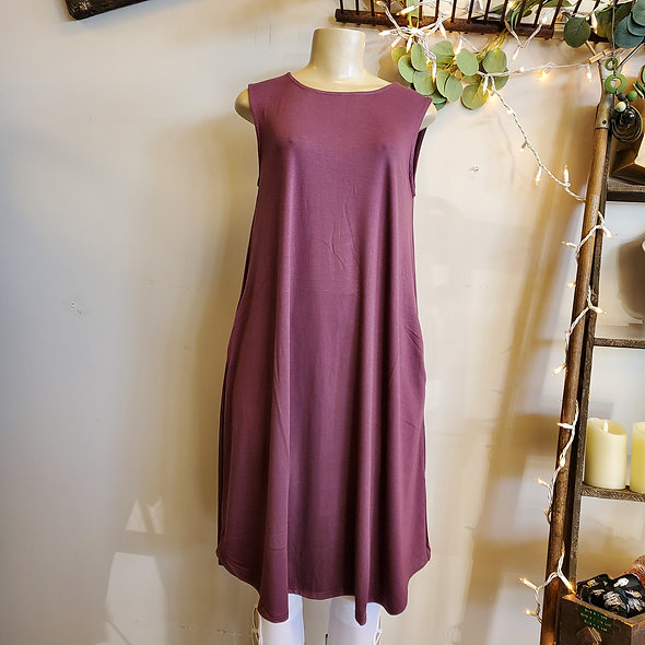 Purple Sleeveless Summer Dress