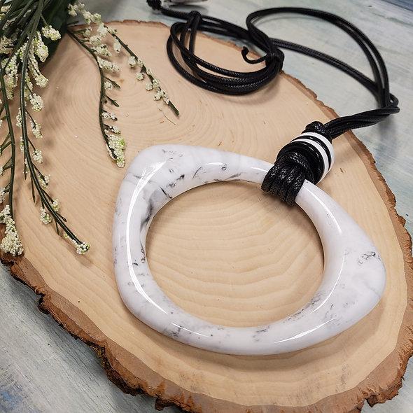 Alisha D. Large Marbled Pendant Necklace