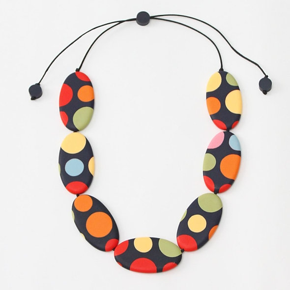 Colorful Polka-Dot Lena Necklace