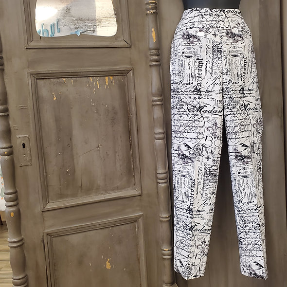 Lulu-B Newspaper Print Pants