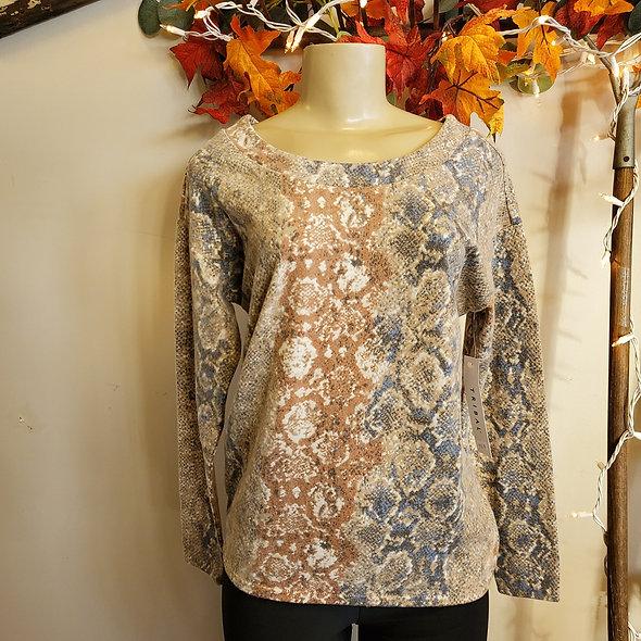 Tribal Pastel Snakeskin Pullover