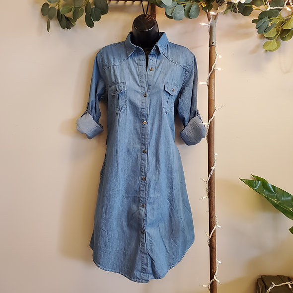 Sacred Threads Button Down Denim Dress