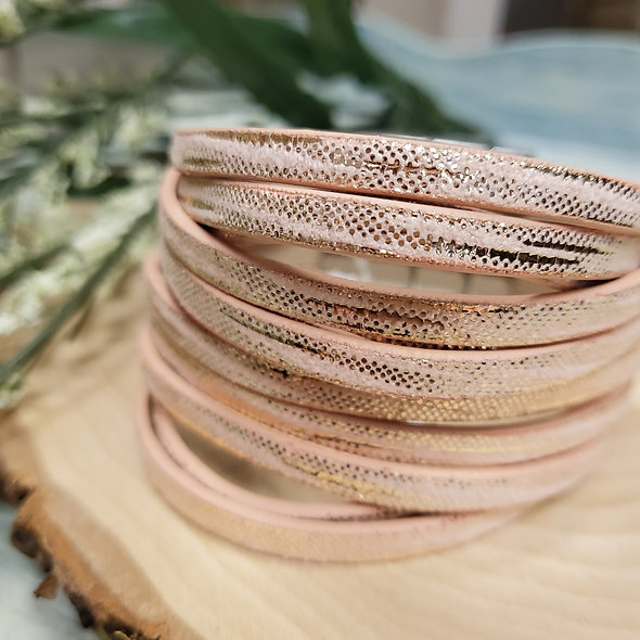 Metallic Blush Wide Magnetic Bracelet
