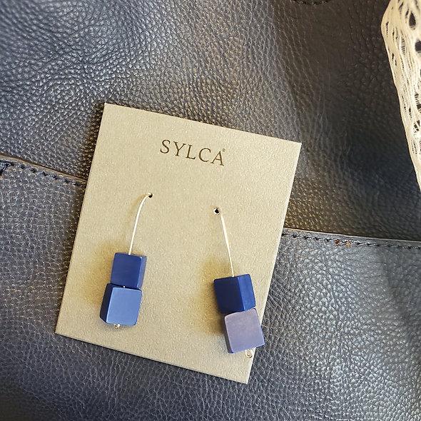 Blue Ingrid Earrings