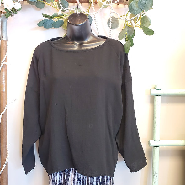 Oh My Gauze! Black Abby Top