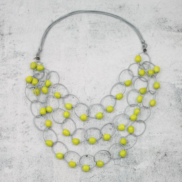 Lime Brooklyn Loop Necklace