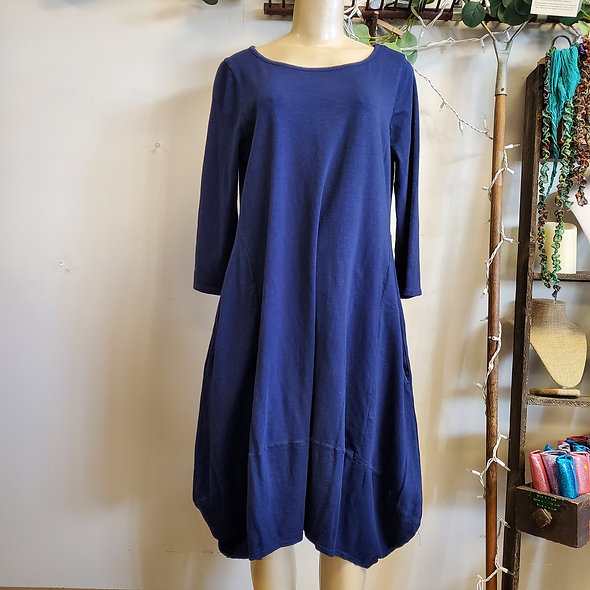 Prairie Cotton Asymmetrical Pocketed Bubble Dress