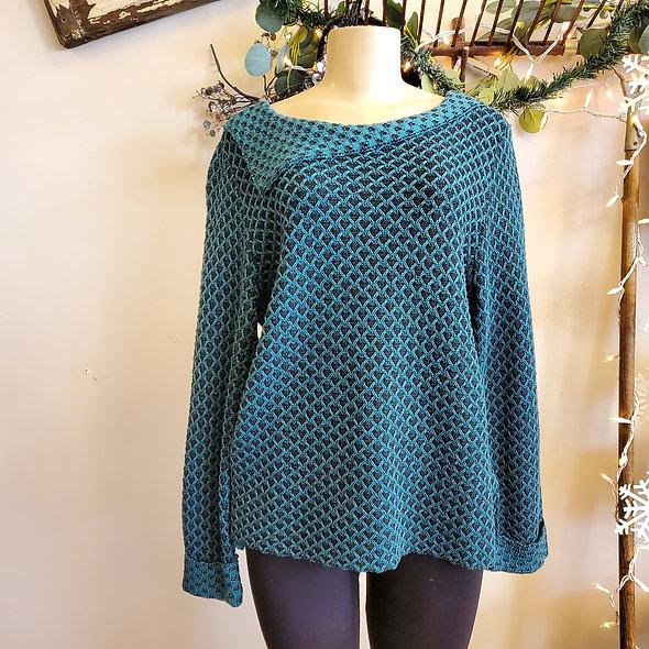 Habitat Teal Knit Cowl  Sweater