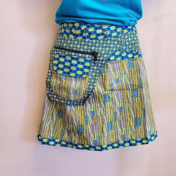 Asha Reversible Snap Wrap Skirts