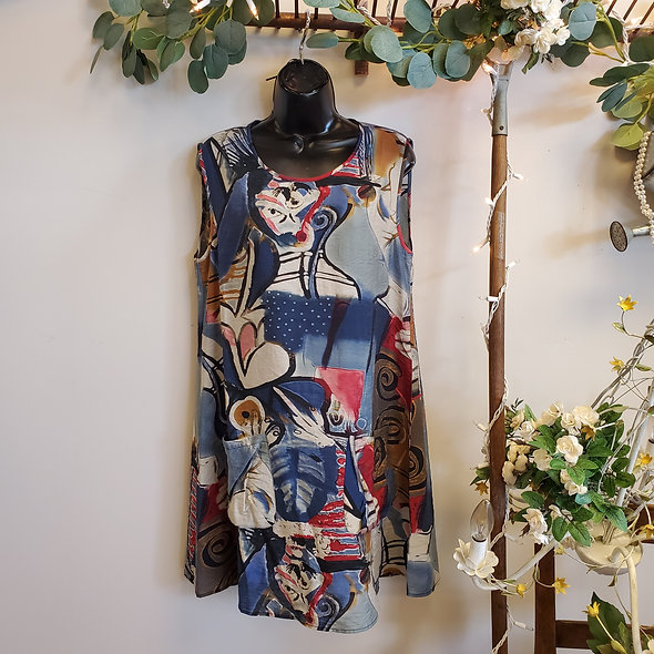 Shana Sleeveless Chiffon Mini Dress