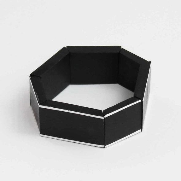 Black Geometric Amelia Bracelet