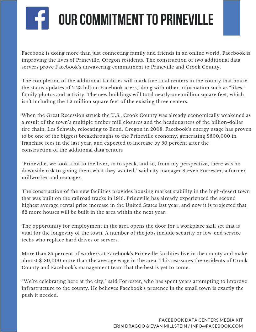 Mock Facebook Media Kit: Our Story