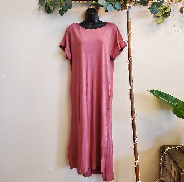 Umgee Mauve Cap Sleeve Maxi Dress