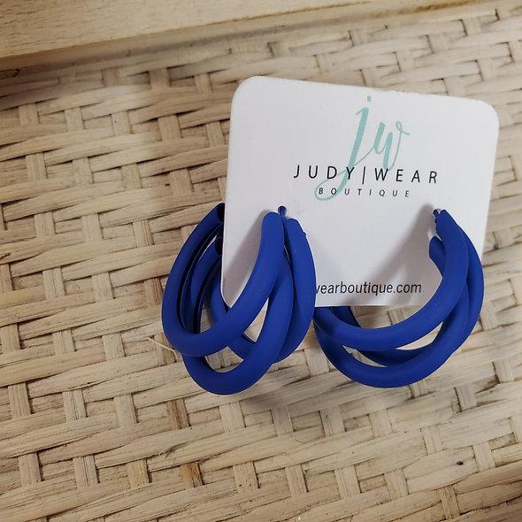Blue Tubed Hoops