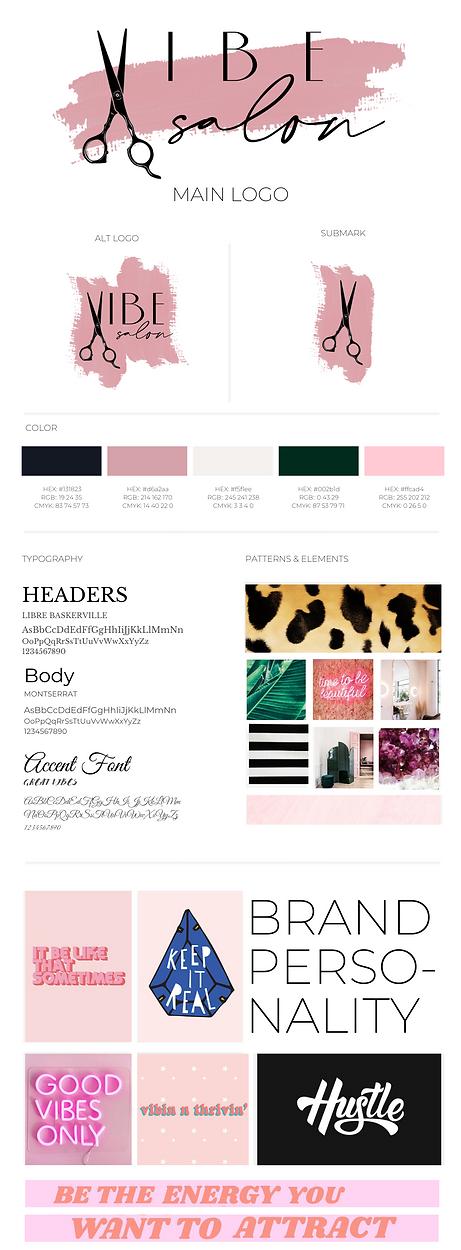 Vibe Salon Brand Board