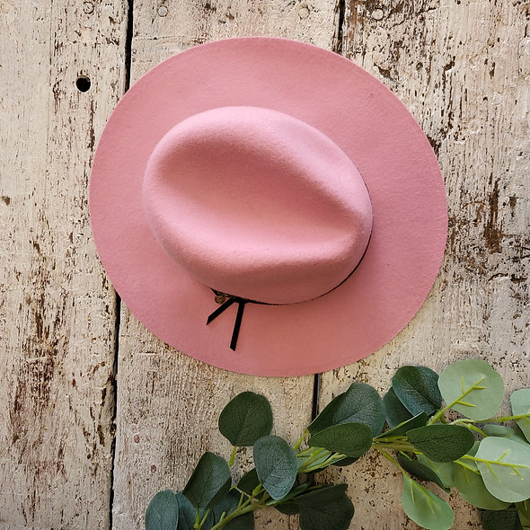Pretty In Pink Fedora Hat