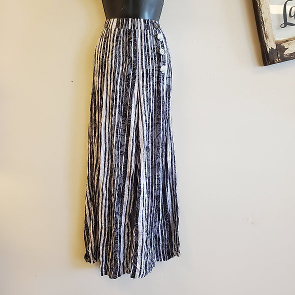 Shana Striped Button Pants