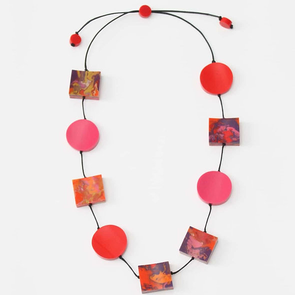 Red and Pink Chloe Necklace