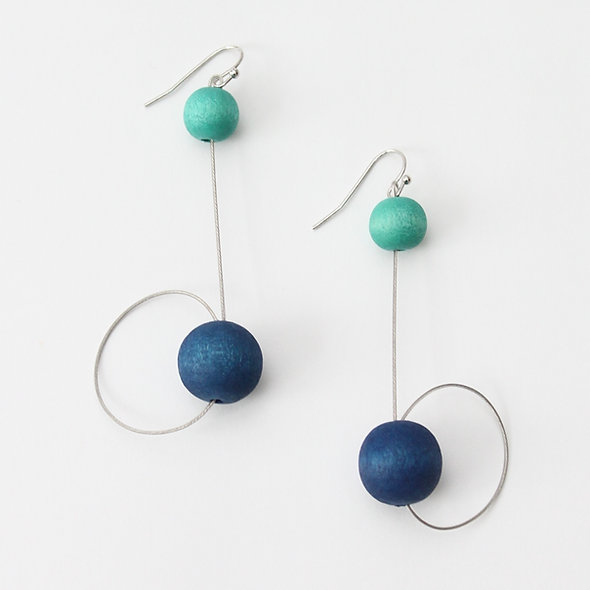 Blue & Aqua Carlota Earrings