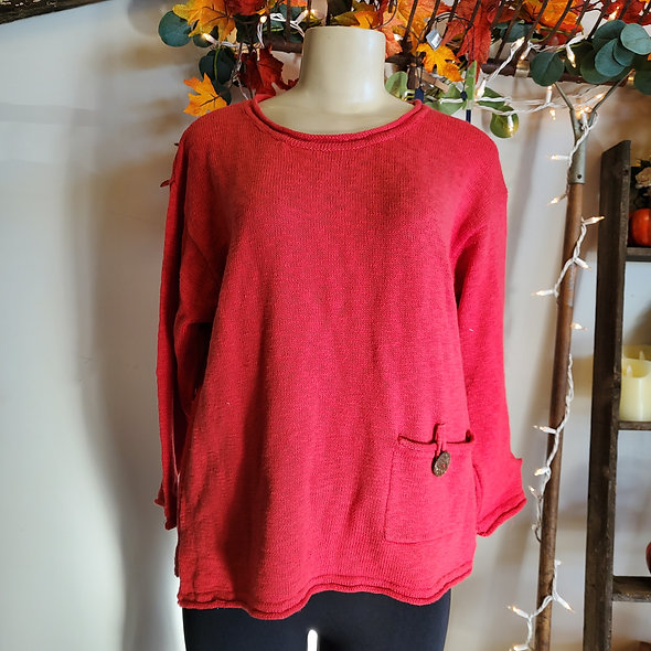 Lulu B Red Button Sweater
