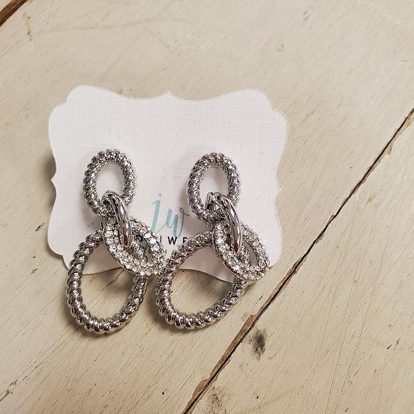 Chain Link Post Earrings