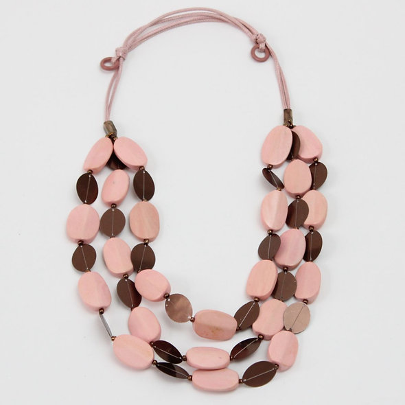 Pink Multi Strand Ava Necklace